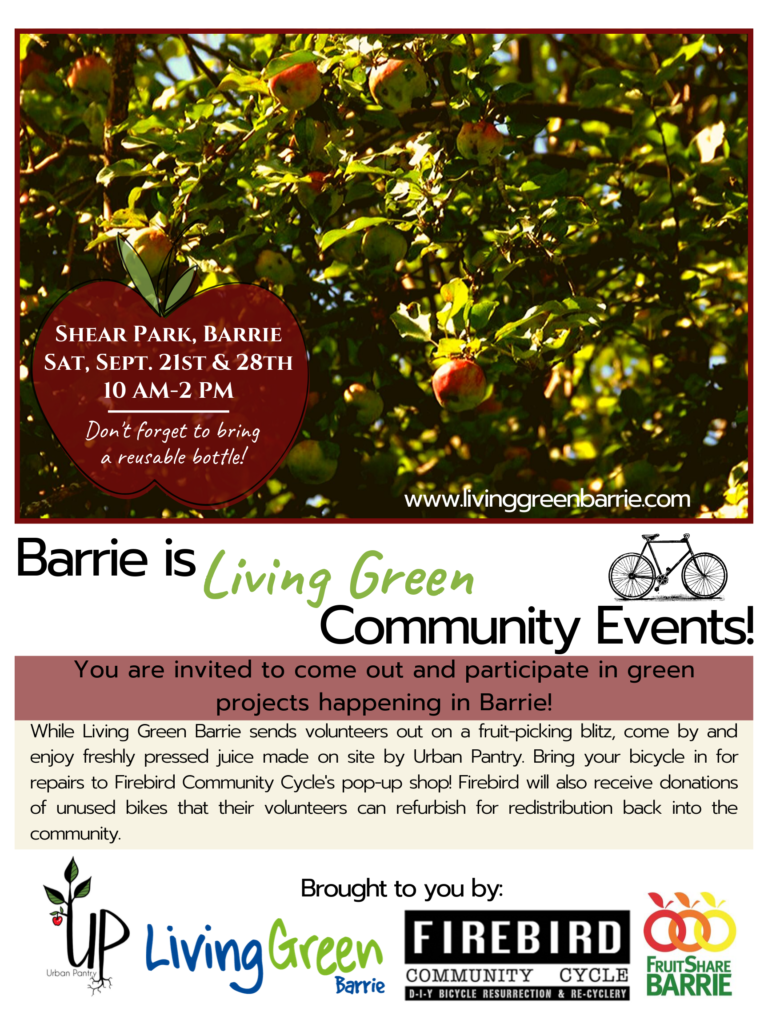 2019 FruitShare Blitz and Barrie Green Events!